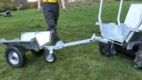 Arb Trailer hitched to Micro Arb Truck